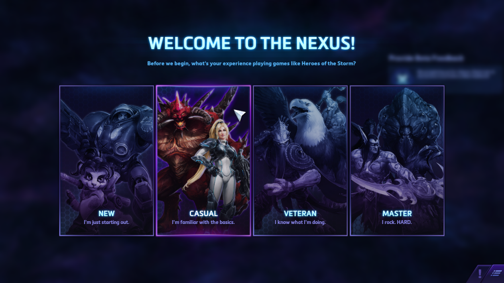 Nova and Diablo are the best representations of Casual.
